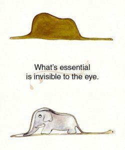 l'essenziale è invisibile agli occhi!